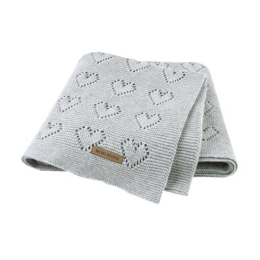 Cotton Knitted Baby Blankets Newborn For Boys Girls Kids Blanket Stroller Bedding Quilts Wrap Infant Muslin 2