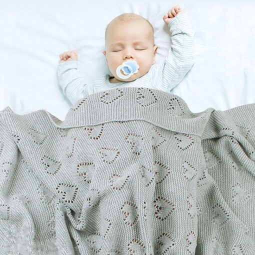 Cotton Knitted Baby Blankets Newborn For Boys Girls Kids Blanket Stroller Bedding Quilts Wrap Infant Muslin 3