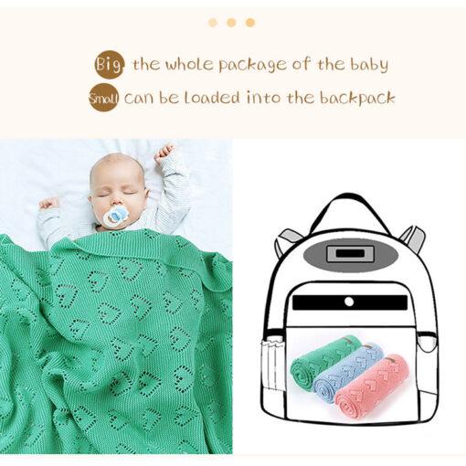 Cotton Knitted Baby Blankets Newborn For Boys Girls Kids Blanket Stroller Bedding Quilts Wrap Infant Muslin 4