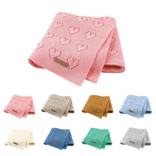 Cotton Knitted Baby Blankets Newborn For Boys Girls Kids Blanket Stroller Bedding Quilts Wrap Infant Muslin