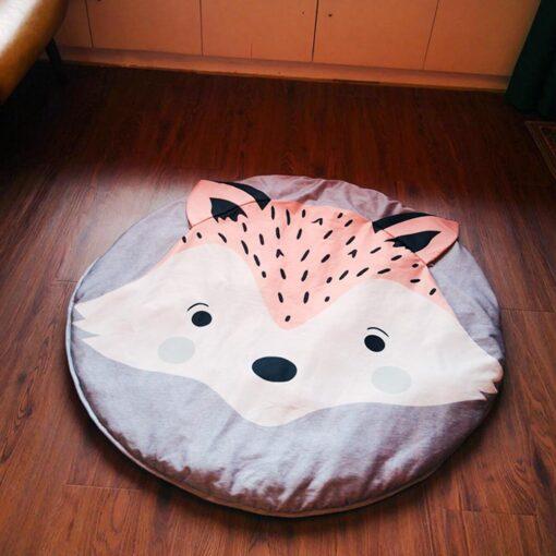Crawling Mat Cartoon Fox Design Baby Play Mat Cute Soft Crawling Mat Rug Toys Storage Organizer 1