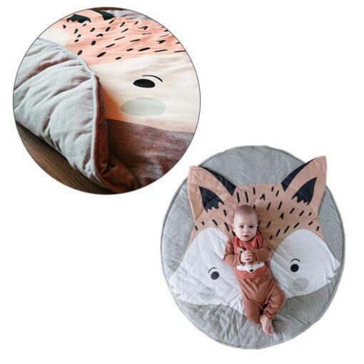 Crawling Mat Cartoon Fox Design Baby Play Mat Cute Soft Crawling Mat Rug Toys Storage Organizer 4