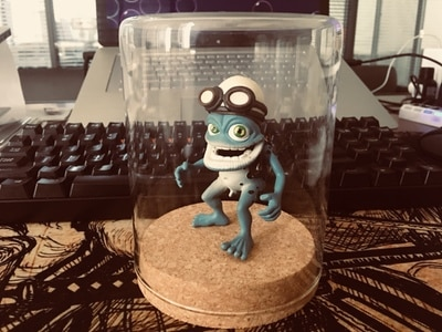 Crazy frog doll crazy frog doll pendant key chain Ornament Gift car decoration