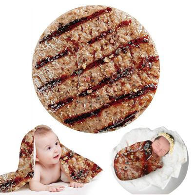 Creative Blankets For Newborn Photography Prop Funny Tortilla Blanket Super Soft Blanket Round Infant Photography Accessories 2