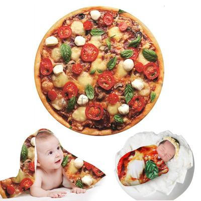 Creative Blankets For Newborn Photography Prop Funny Tortilla Blanket Super Soft Blanket Round Infant Photography Accessories 3