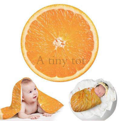 Creative Blankets For Newborn Photography Prop Funny Tortilla Blanket Super Soft Blanket Round Infant Photography Accessories 4