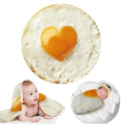 Creative Blankets For Newborn Photography Prop Funny Tortilla Blanket Super Soft Blanket Round Infant Photography Accessories