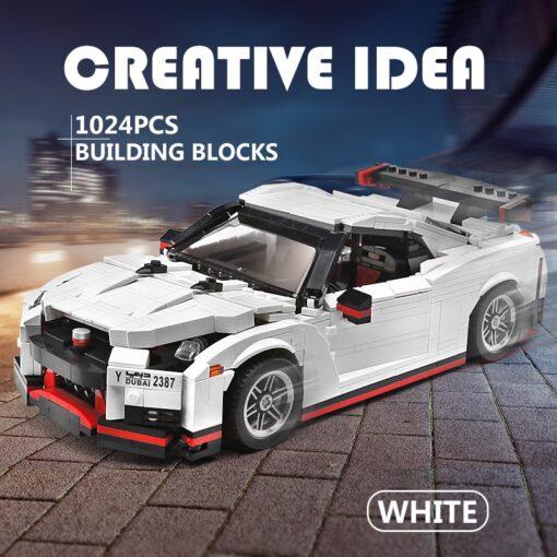 Creative Technic Nismo Nissan GTR R35 Car Compatible with MOC 20518 Buidling Blocks Bricks Car Model 1