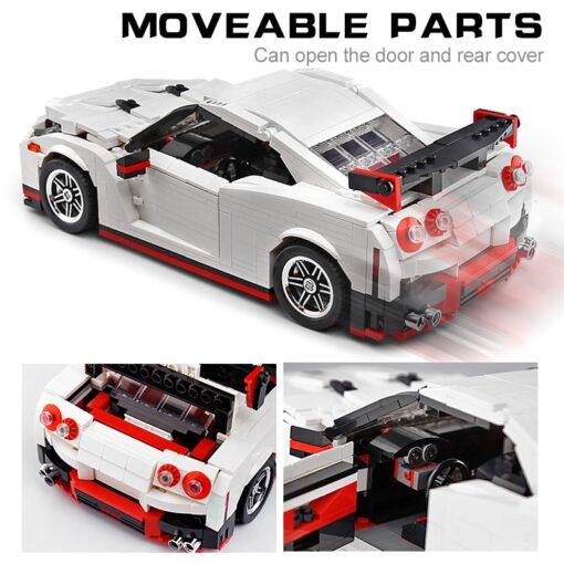 Creative Technic Nismo Nissan GTR R35 Car Compatible with MOC 20518 Buidling Blocks Bricks Car Model 3