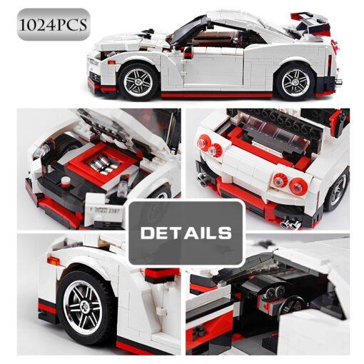 Creative Technic Nismo Nissan GTR R35 Car Compatible with MOC 20518 Buidling Blocks Bricks Car Model 4