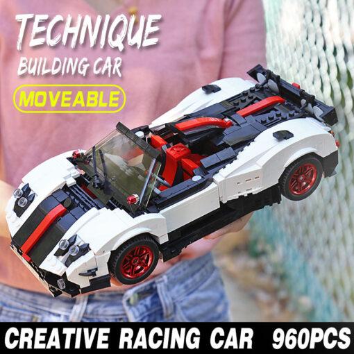Creative Technic Nismo Nissan GTR R35 Car Compatible with MOC 20518 Buidling Blocks Bricks Car Model 5