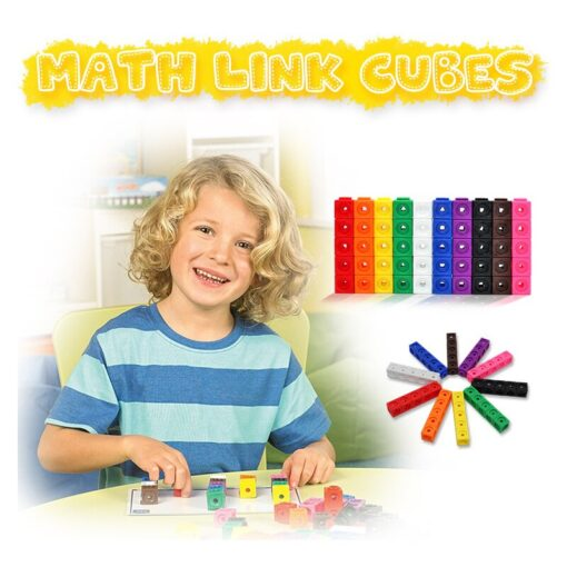 Creative Toy Math Spell Insert 2cm Square Blocks Mathlink Cubic Blocks Kindergarten Early Education Building Blocks 1