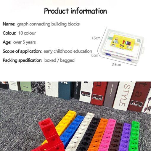 Creative Toy Math Spell Insert 2cm Square Blocks Mathlink Cubic Blocks Kindergarten Early Education Building Blocks 5