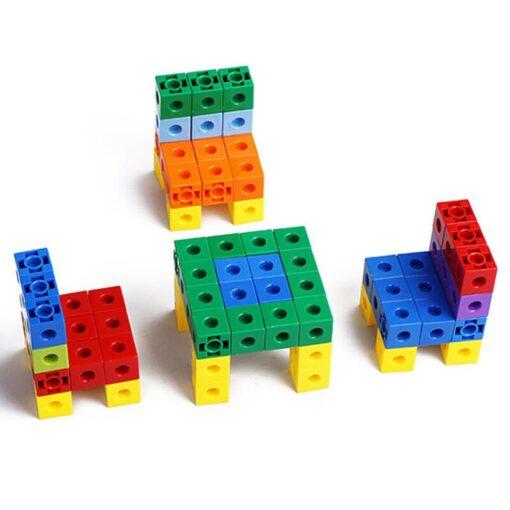 Creative Toy Math Spell Insert 2cm Square Blocks Mathlink Cubic Blocks Kindergarten Early Education Building Blocks