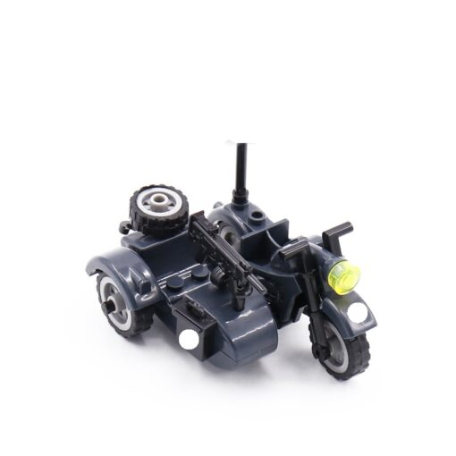 Creator Military Particles Accessory Motorcycle Tricycle Cartoon Car Brick Set Building Block Kid Toy Military Creators 2