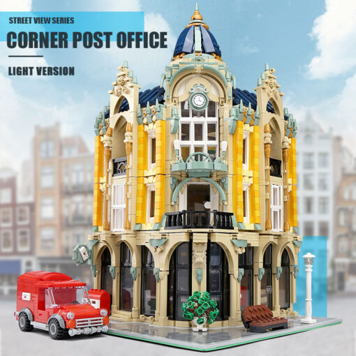 Creator Mould King Modular Buildings City Street View House Set with Light Architecture Brick Blocks Collection 4