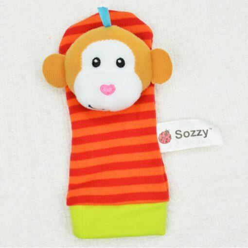 Cute Animal Hand Wrist Bells Foot Sock Rattles Soft Toy Baby Boys Girls Watch With Wrist 5