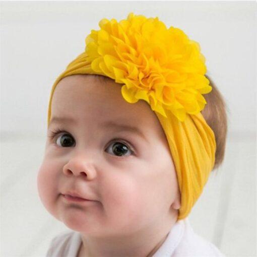 Cute Baby Headband Turban Flower Newborn Baby Girl Headbands Elastic Kids Hair Band Kids Hair Accessories