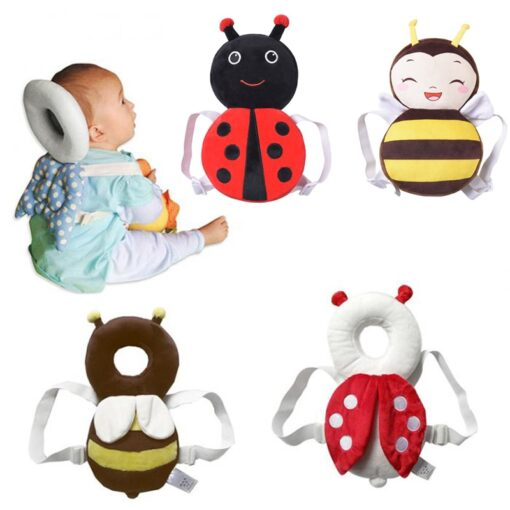 Cute Baby Newborn Head Back Protection Pillow Toddler Wings Drop Resistance Pad Guardian Cushion Toys BM88
