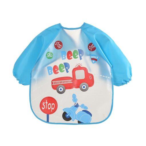 Cute Baby Waterproof Long Sleeve Apron Children Feeding Smock Bib Burp Clothes Soft Eat Toddler Baberos 2