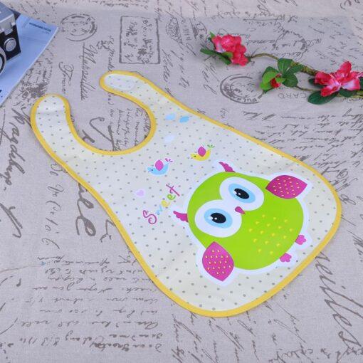 Cute Cartoon Baby Kids Bibs EVA Waterproof Saliva Towel Infants Feeding Care Bandana Apron Newborn Boys 2