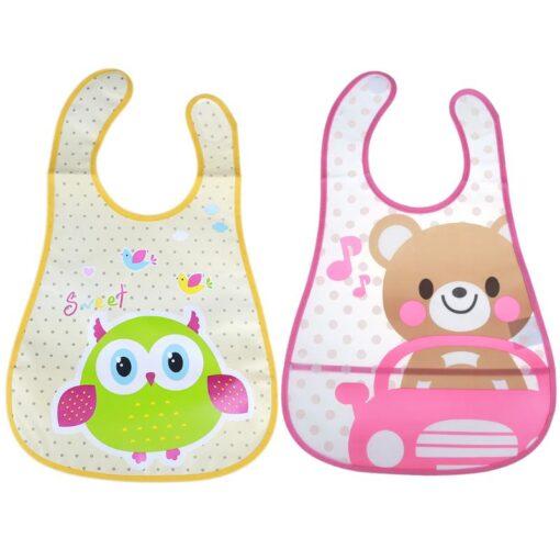 Cute Cartoon Baby Kids Bibs EVA Waterproof Saliva Towel Infants Feeding Care Bandana Apron Newborn Boys