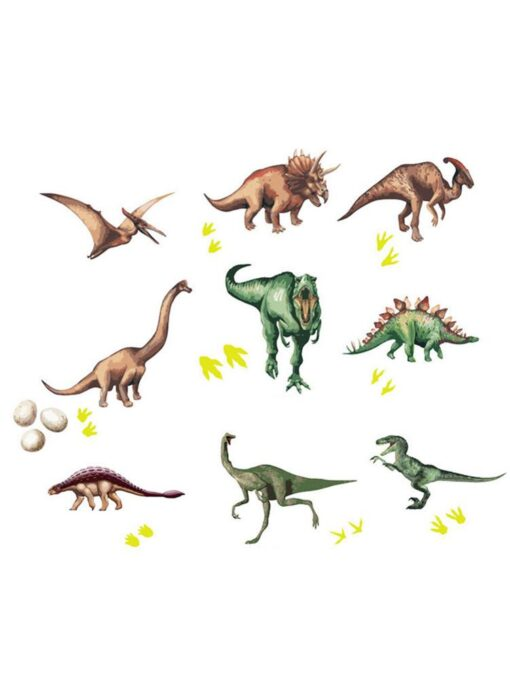 Cute Cartoon Dinosaur Wall Stickers For Kids Room Removable Cartoon Animal Wall Decals Adhesive Nursery School 5