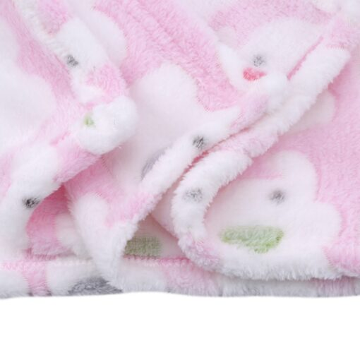 Cute Elephant Cartoon Baby Blanket Newborn Elephant Air Conditioning Quilt Coral Velvet Pillow Quilt dual use 4