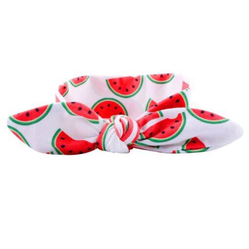 Cute Fruit Pattern Children Kids Head Accessories Kiwi Papaya Patterns DIY Stretch Hair Band Elastic Headwears 4
