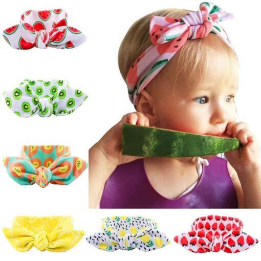 Cute Fruit Pattern Children Kids Head Accessories Kiwi Papaya Patterns DIY Stretch Hair Band Elastic Headwears