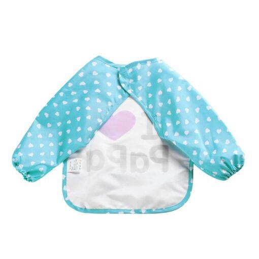 Cute Girls Baby Infant Family Long Sleeve Anti Wear Waterproof Feeding Bib Apron 1