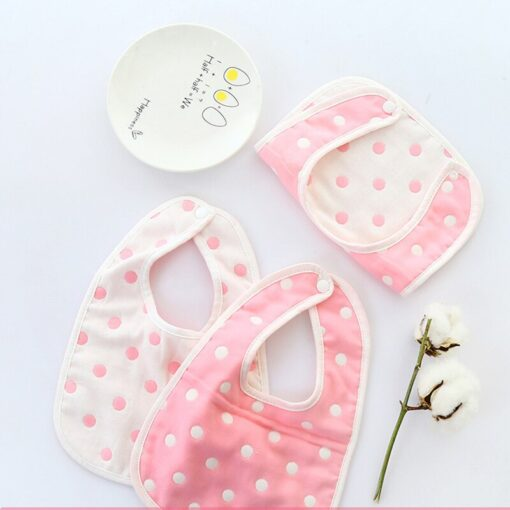 Cute Infant Baby Boys Girls Saliva Towel Bib Printing Washable U Shaped Soft Bib Gauze Absorbent 1