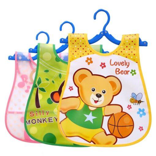Cute Kid Infant Bibs Baby Soft Cartoon Bib Waterproof Saliva Dripping Bibs 1