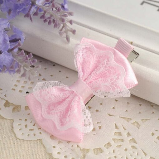 Cute Lace Bowknot Hair Clips Baby Girl Hairpin Child Lovely Gift Hair Clips Kids Hair Bands 1