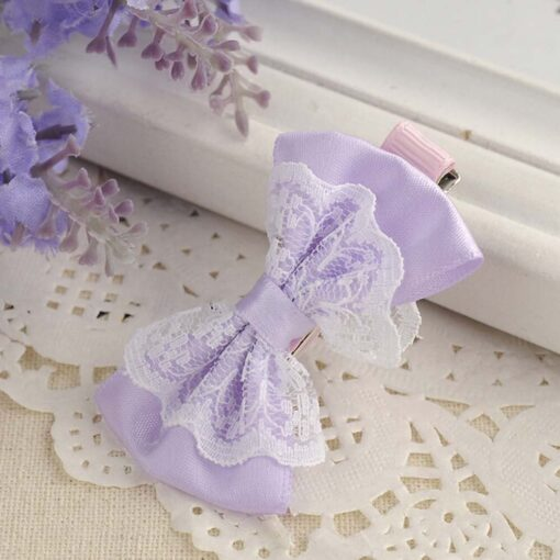 Cute Lace Bowknot Hair Clips Baby Girl Hairpin Child Lovely Gift Hair Clips Kids Hair Bands 3