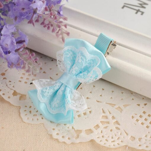 Cute Lace Bowknot Hair Clips Baby Girl Hairpin Child Lovely Gift Hair Clips Kids Hair Bands 4