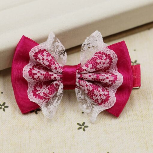 Cute Lace Bowknot Hair Clips Baby Girl Hairpin Child Lovely Gift Hair Clips Kids Hair Bands 5