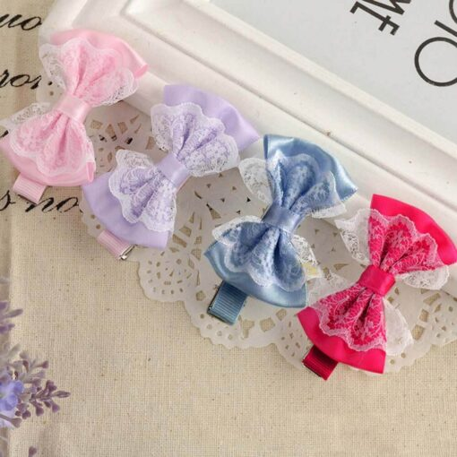 Cute Lace Bowknot Hair Clips Baby Girl Hairpin Child Lovely Gift Hair Clips Kids Hair Bands
