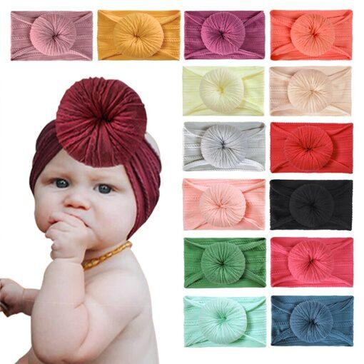 Cute Solid Color Headband Newborn Infant Baby Boy Girl Cotton Elastic Hair Bands Kids Headwear Hair 4