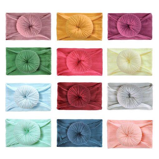 Cute Solid Color Headband Newborn Infant Baby Boy Girl Cotton Elastic Hair Bands Kids Headwear Hair