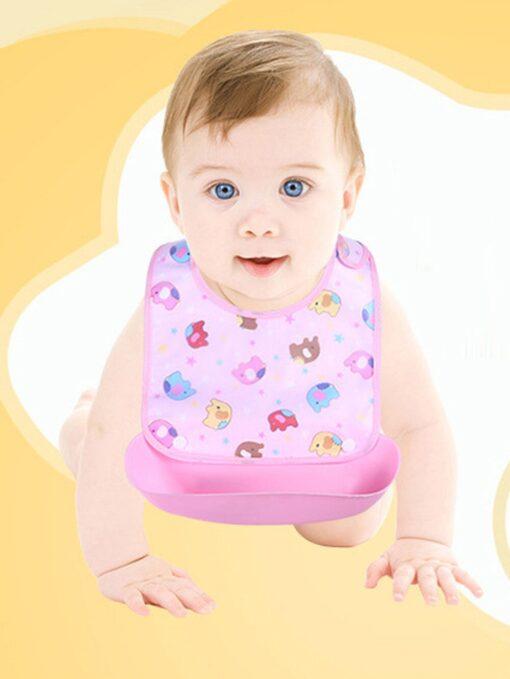 Cute cartoon detachable bibs for babies boys girls feeding apron waterproof saliva towel bib bathrobe baby 1