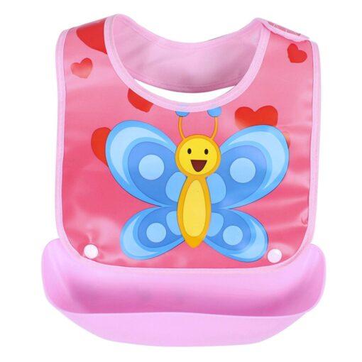 Cute cartoon detachable bibs for babies boys girls feeding apron waterproof saliva towel bib bathrobe baby 2