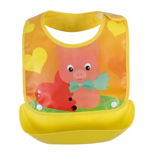 Cute cartoon detachable bibs for babies boys girls feeding apron waterproof saliva towel bib bathrobe baby 4