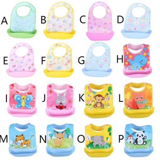 Cute cartoon detachable bibs for babies boys girls feeding apron waterproof saliva towel bib bathrobe baby