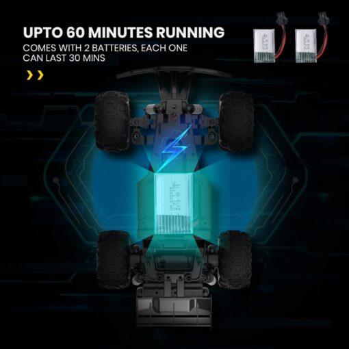 DEERC 1 22 Racing RC Car Rock Crawler Radio Control Truck 60 Mins Play Time 20 5