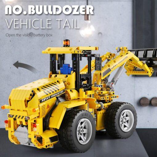 DHL 20006 APP Technic Car The L350F Wheel Loader Model Compatible with 42030 Loader Building Blocks 1
