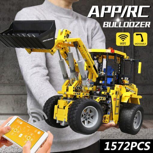 DHL 20006 APP Technic Car The L350F Wheel Loader Model Compatible with 42030 Loader Building Blocks 2