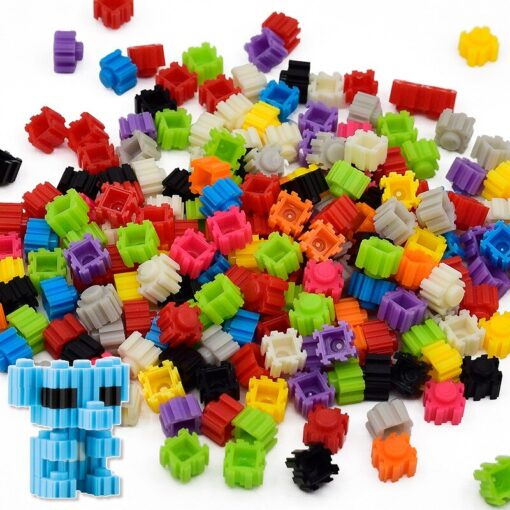 DIY Building Block 24 Colors Cartoon Children Difficult Assembly Toy Micro Diamond Small Particles Building Blocks 5
