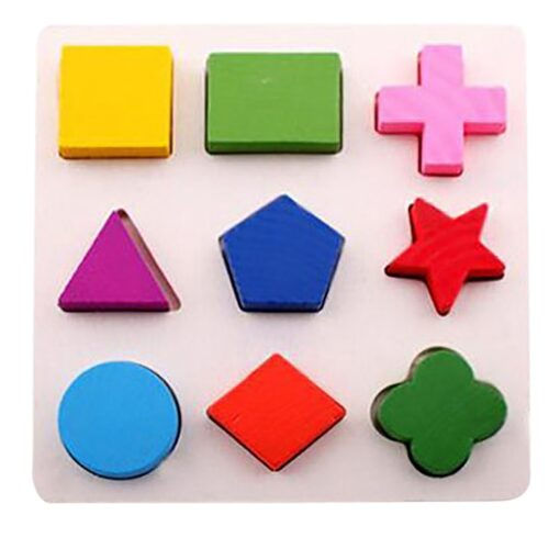 DIY Imagination Kids Baby Wooden Geometry Building Puzzle Early Learning Educational Toy Educational Toys Do It 3
