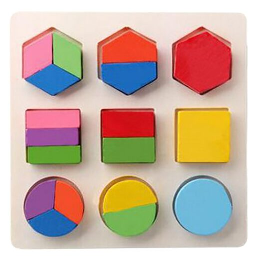 DIY Imagination Kids Baby Wooden Geometry Building Puzzle Early Learning Educational Toy Educational Toys Do It 4